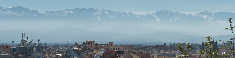 Atlas Mountains from Marrakech