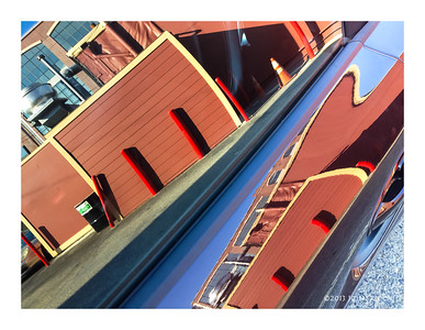 San Francisco Car Door Reflection 2