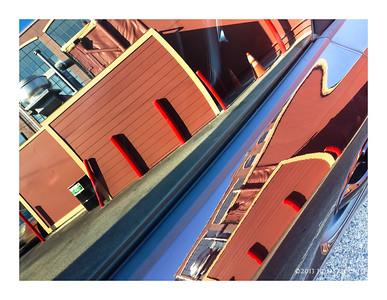 San Francisco Car Door Reflection 2