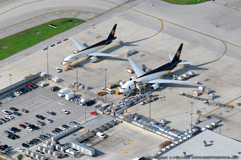 UPS Cargo planes at Miami International Airport (MIA) - Miami, Florida