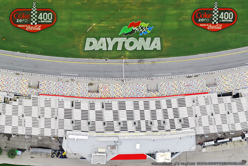 "Daytona International Speedway after the 2008 July ""Coke Zero 400"" race"