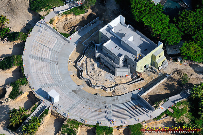 Amphitheatre construction at the Miami Metro Zoo