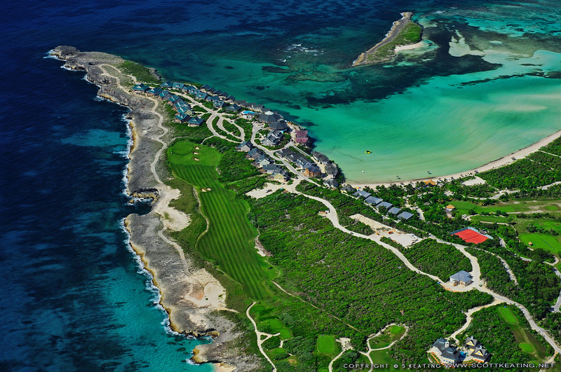Winding Bay area of Great Abaco, Bahamas