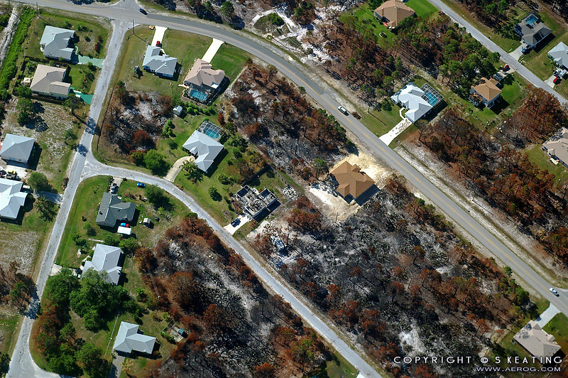 Damage from the Malabar/Palm Bay brush fires in May 2008