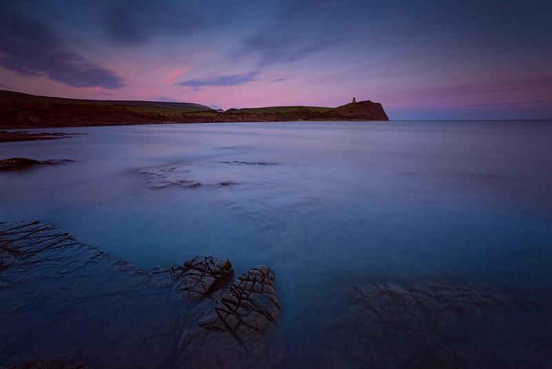 Kimmeridge Bay at dusk, Dorset