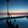 West Wittering beach at dusk, West Sussex