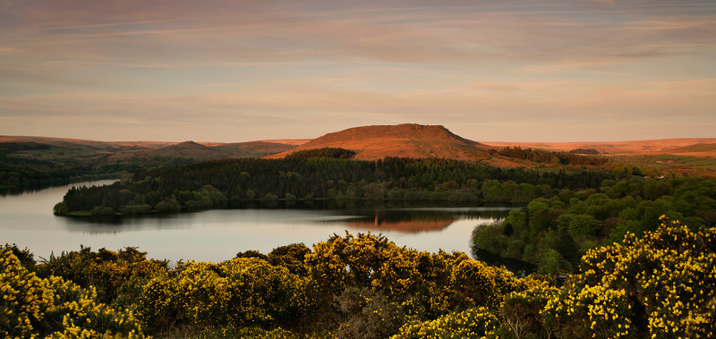 Sunset at Burrator, Dartmoor, England