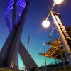 Portsmouth's Spinnaker Tower Illuminated at dusk