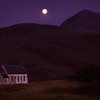 Moonlit Scottish Church in the Highlands