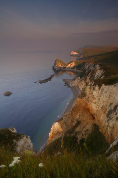 Sunrise near Durdle Door on the Dorset Coast