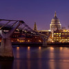 Millennium Bridge at dusk