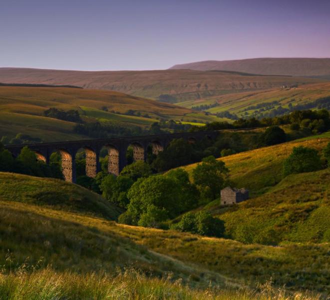 Yorkshire Dales Viaduct late evening