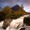 Buachaille Etive Mor in Autumn with waterfall