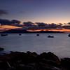 Isle of Rum at dusk from Elgol, Skye