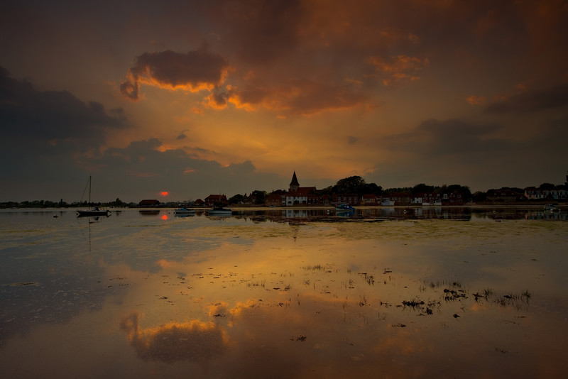 Summer Sunset at Bosham, Hampshire, England