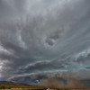 Storm with plough winds rolling through Arches National Park