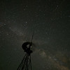 Windmill under the Milky Way