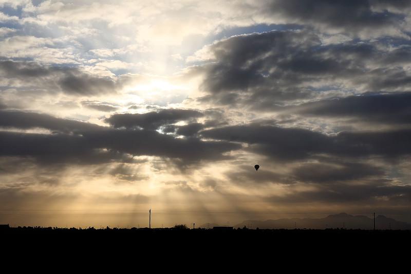 Hot Air Balloon and sunrise, Casa Grande, Arizona