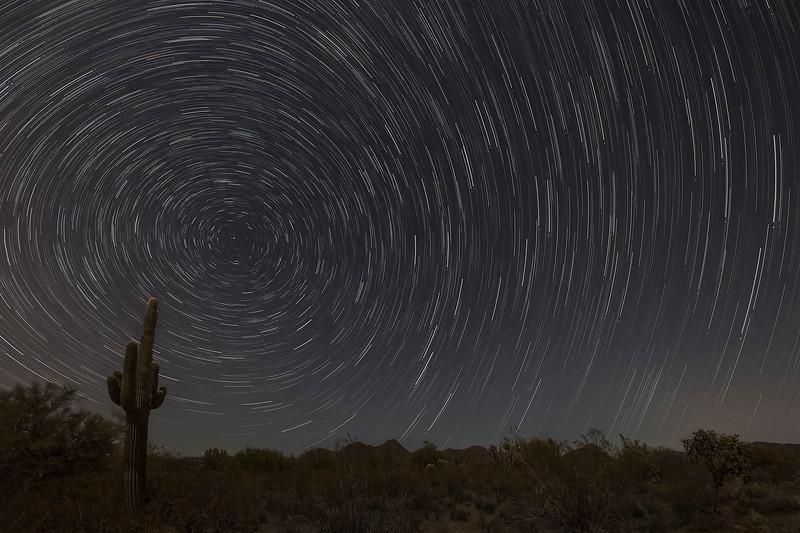 2 - Star Trails, near Superior, Arizona