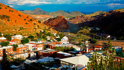 View From High Road Overlooking Bisbee & The Lavender Pit