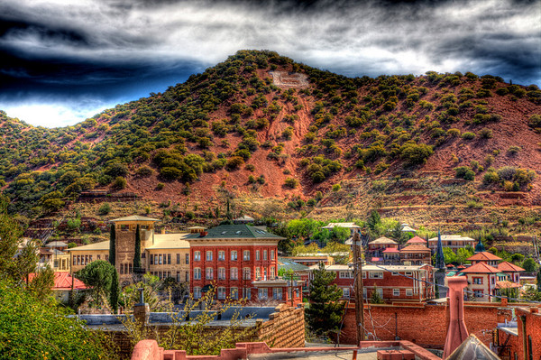 """B"" Hill Overlooking Historic Bisbee"