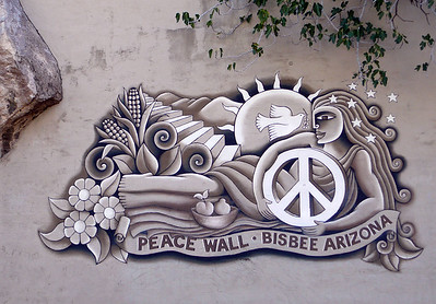 Bisbee Peace Wall Mural (painted by Rose Johnson)