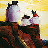 Sun Worshippers (oil, 22x24) - $350