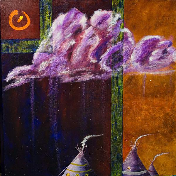 Summer Rains (oil, 30x42) - $400