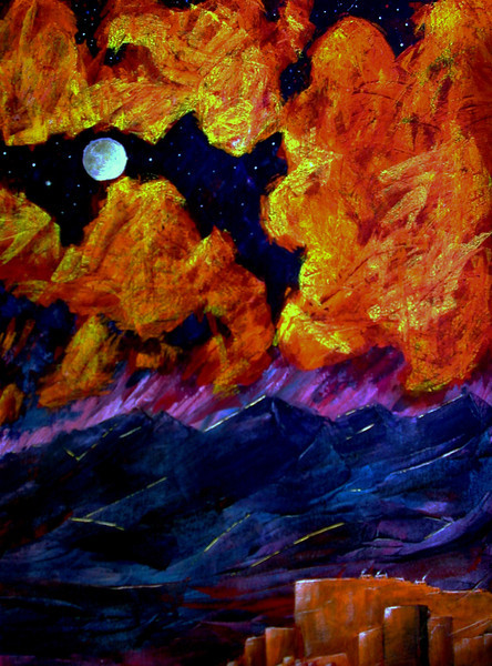 Tranquil Moon (acrylic, 29x37, framed) - $1000