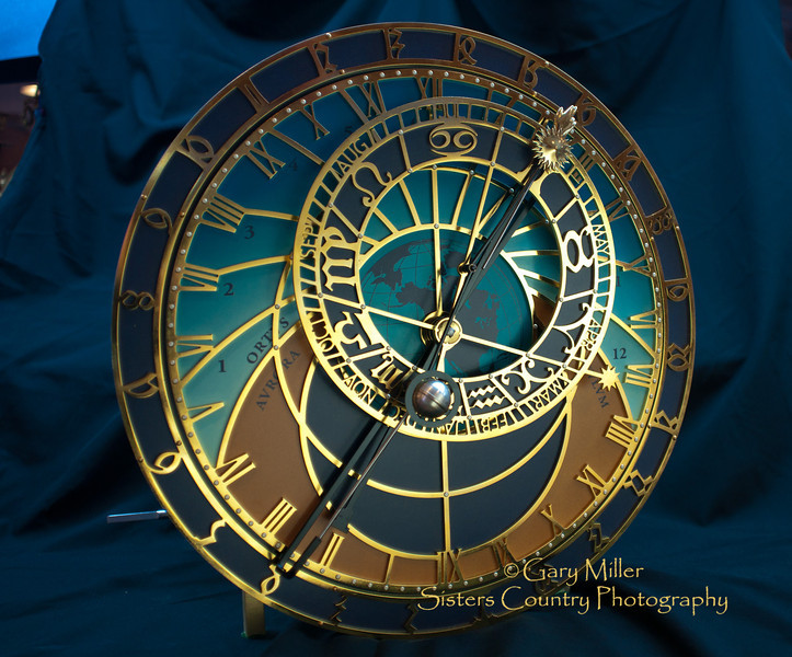 The Orloj - Custom miniturazation by Ed Beacham of the famous clock from the 1400's on the tower of City Hall in Prague - Photo by Gary N. Miller - Sisters Country Photography