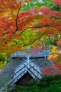 秋色の古刹