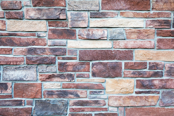 Stone wall in warm tones