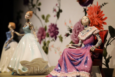 Tattooed porcelain ladies by Jessica Harrison