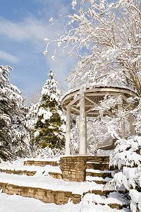 Gazebo in Snow