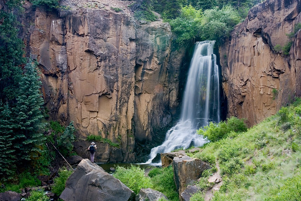 """""""The Photographer at South Clear Creek Falls""""<br /> <br /> My honey, James Hager, photographs the stunning South Clear Creek Falls. Taken in the Rio Grande National Forest, Colorado, USA."""