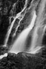 """Tangle Falls Detail in Black and White""<br /> <br /> I fell in love with this waterfall in Jasper National Park. It has many leaps, with multiple falls on each level. This is just one small portion."