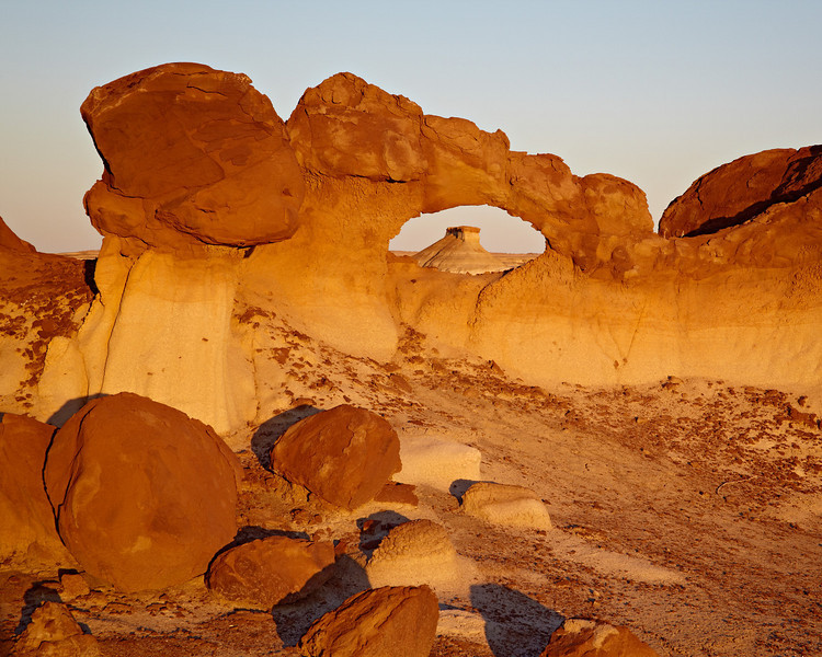 """""""Bisti Arch""""<br /> <br /> Bisti Arch, framing another formation in the background. Taken in a place dear to my heart, the Bisti/De-Na-Zin Wilderness of New Mexico, USA."""