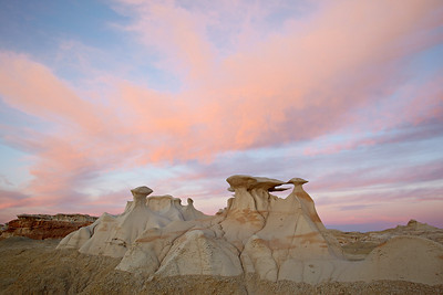 """Sunset Wings""  Sunset at the formations known as ""The Wings"" in the Bisti/De-Na-Zin Wilderness Area of New Mexico, USA."