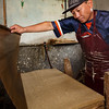 Pressing fiber in paper factory (Thimphu)