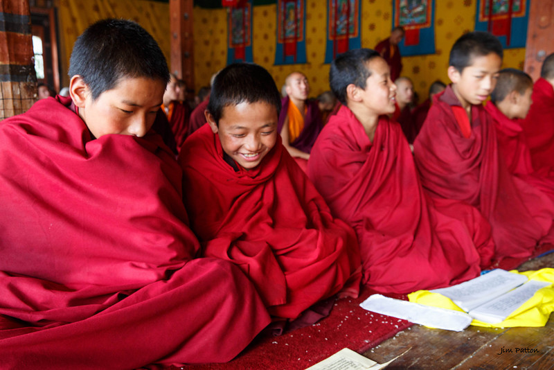 Student-monks at Jambay Lhakhang (Jakar)