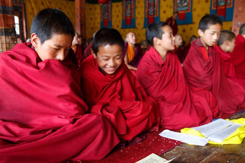 Student-monks at Jambay Lhakhang (Jakar)