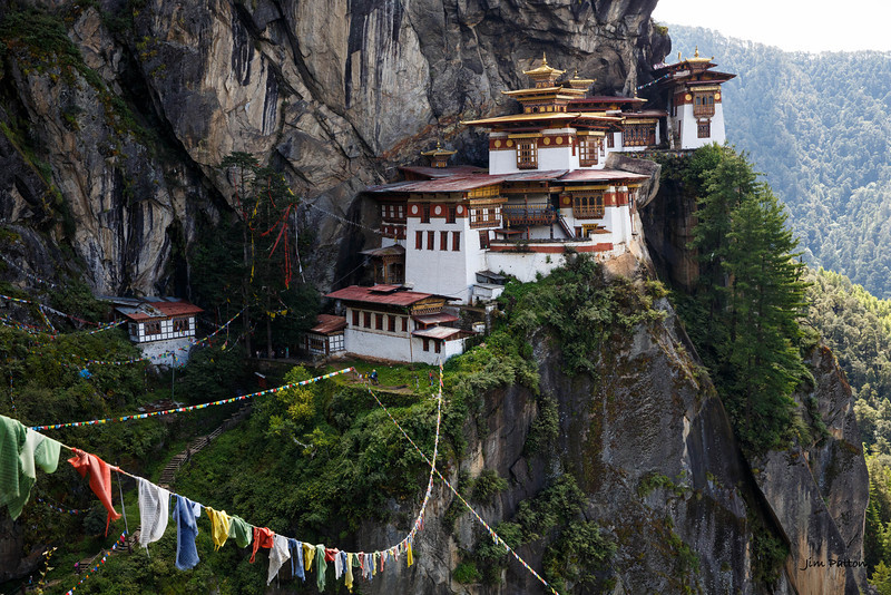 Taktshang Goemba - Tiger's Nest Monastery 900m above the Paro Valley