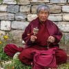 Woman praying at Memorial Chorten in Thimphu