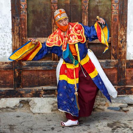 Tamshing Festival dancer performing (Bumthang)