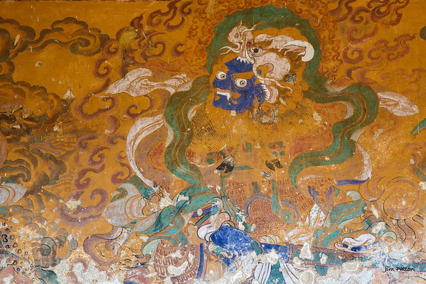 Decorated wall at Tamshing Festival (Bumthang)