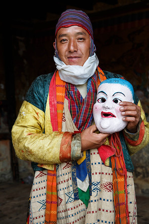 Tamshing Festival performer without his mask (Bumthang)