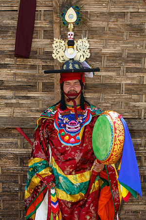 Performer at Wangdi Festival