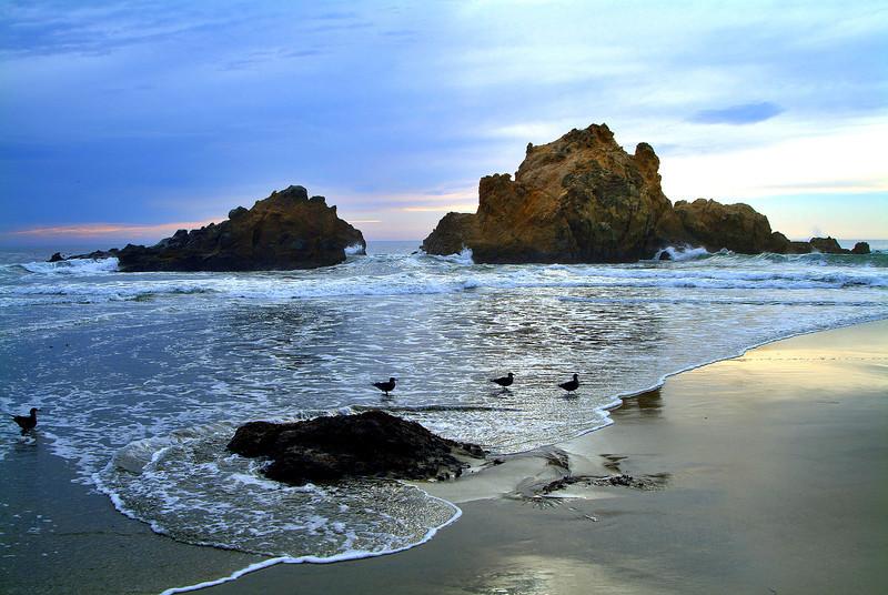 Winter Sunset on Pfeiffer Beach - Big Sur, California