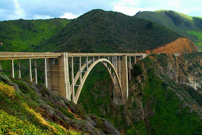 The Bixby Bridge Big Sur, California
