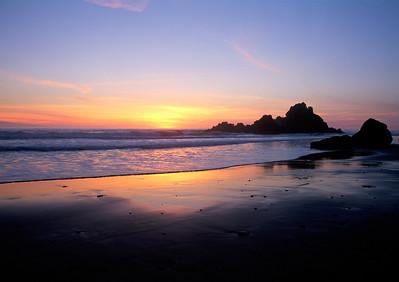Big Sur Sunset Beach Sunset Gold Big Sur